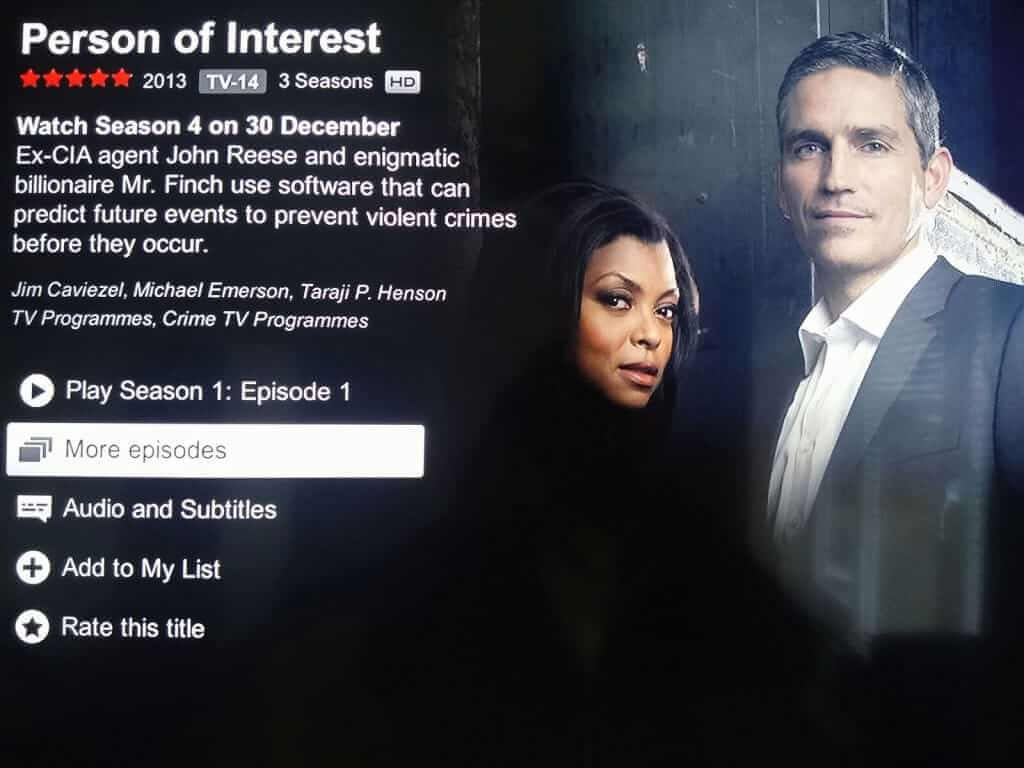 Person of Interest S4 on Netflix Confrimation