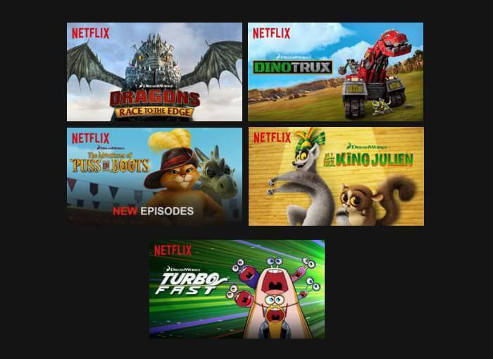 Dreamworks animation series on Netflix