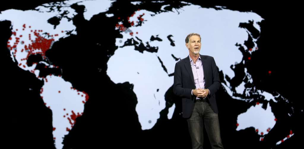 Reed Hastings, co-founder and CEO of Netflix, speaks during a keynote address at the 2016 CES trade show in Las Vegas, Nevada January 6, 2016.  REUTERS/Steve Marcus - RTX21AW2