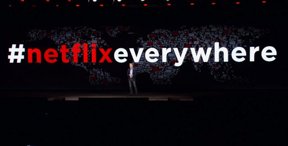 Reed Hastings at the Netflix Everywhere announcement