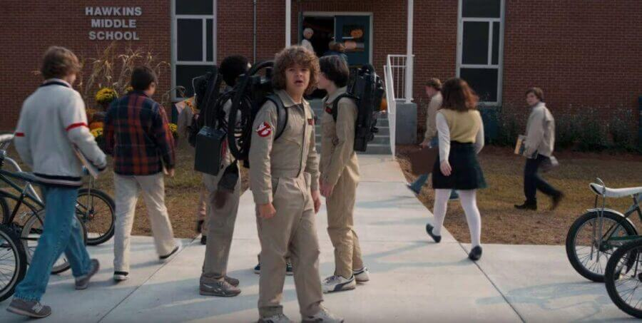Stranger Things in Ghostbusters outfits