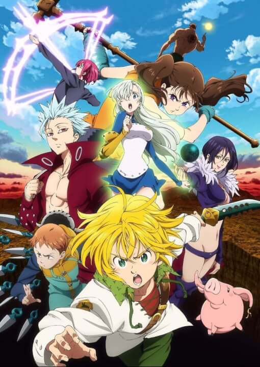 Poster for season 2 of the seven deadly sins