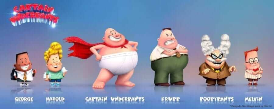Concept Art for Tales of Captain Underpants