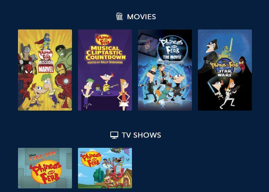 Phineas and Ferb on DisneyLife