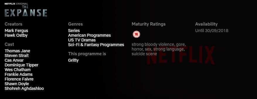 Netflix Expanse