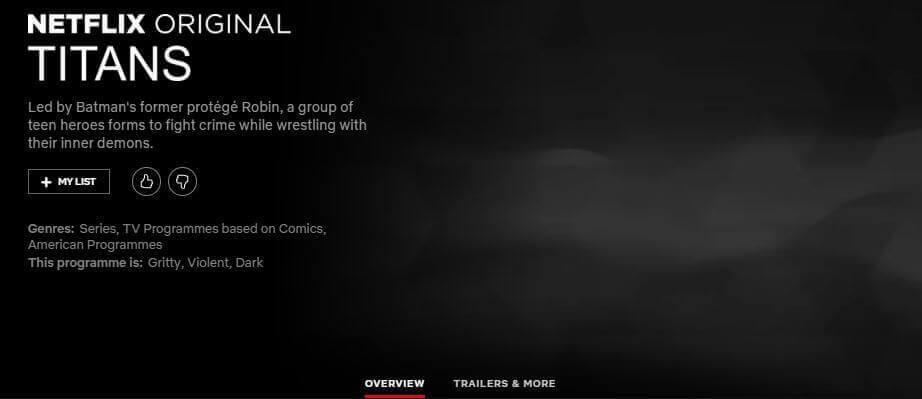 Titans' Season 1 Netflix Release Schedule (US