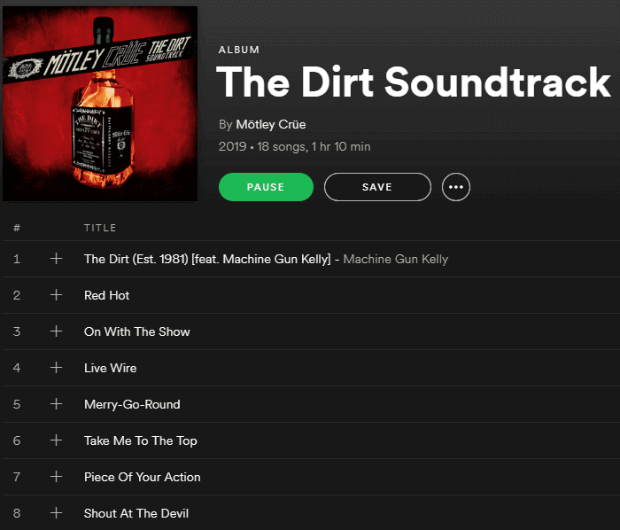 Motley Crue release The Dirt soundtrack as Netflix releases The Dirt biopic