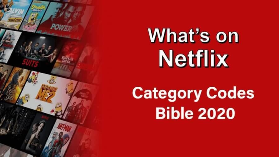 netflix category codes 2020