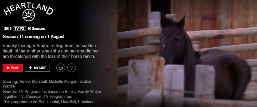 11 >> Heartland Season 11 Coming To Netflix In August 2019 What S On