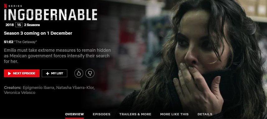 Ingobernable Season 3 Coming To Netflix In December 2019 What S On Netflix