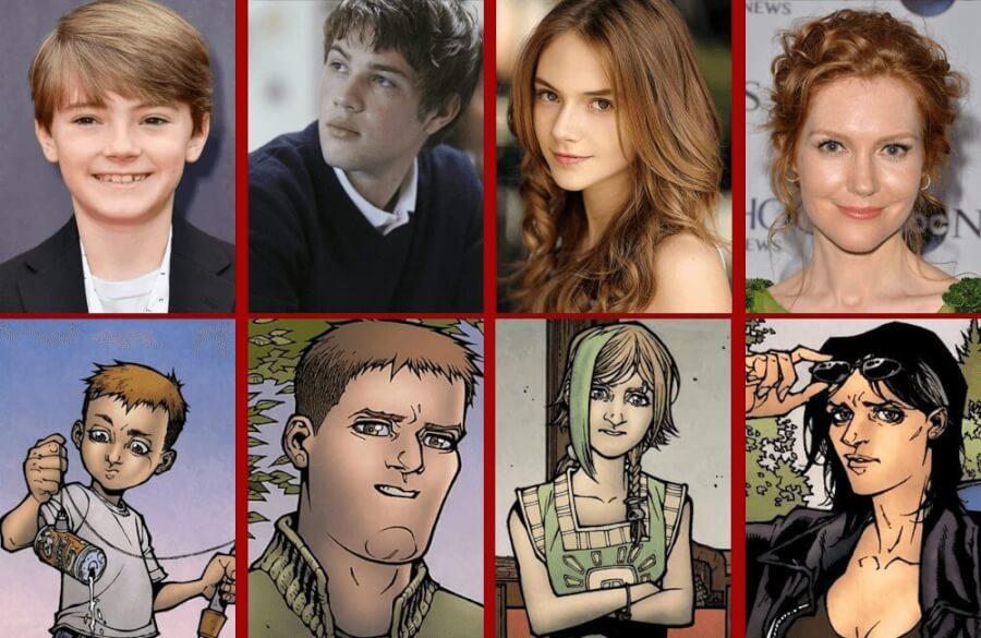 Cast comparisons Locke & Key