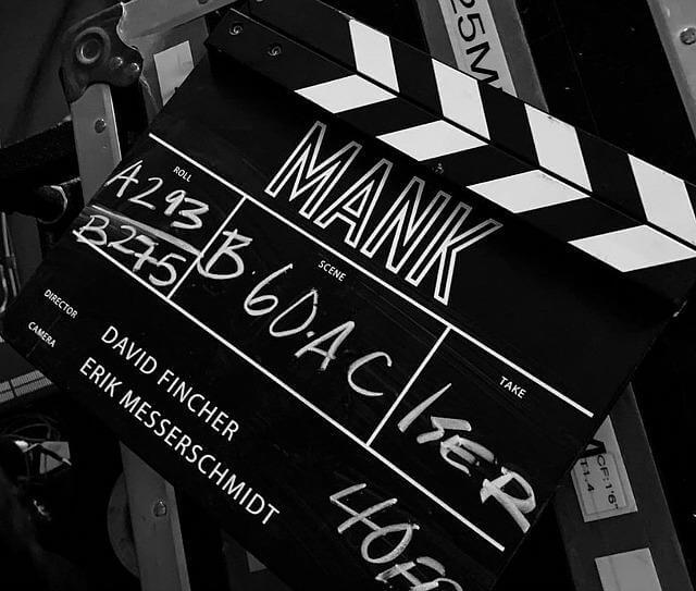 clapperboard for mank netflix