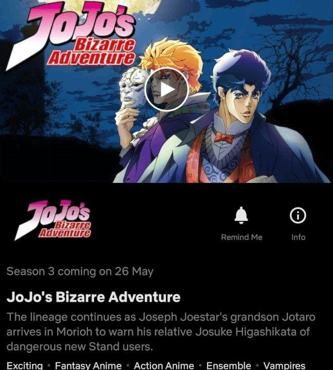 jojos bizarre adventure season 3 diamond is unbreakable is coming to netflix in may 2021 coming soon