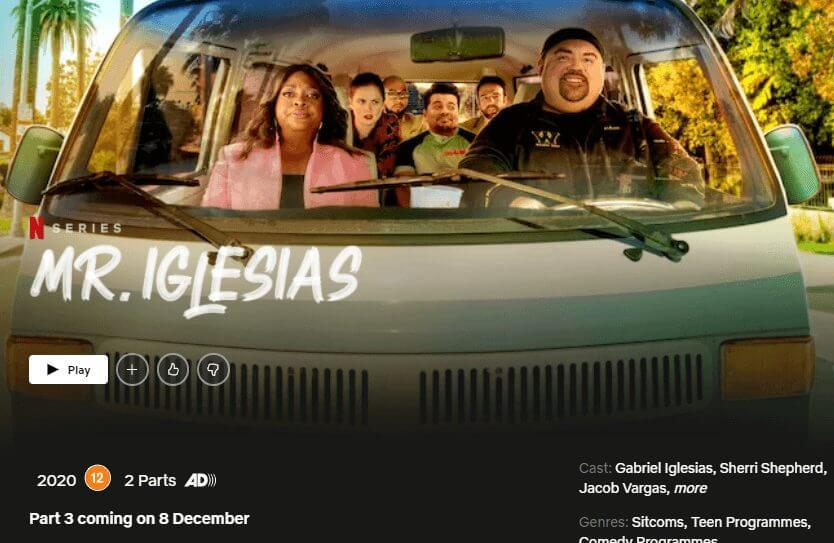 mr iglesias season 3 netflix december 2020