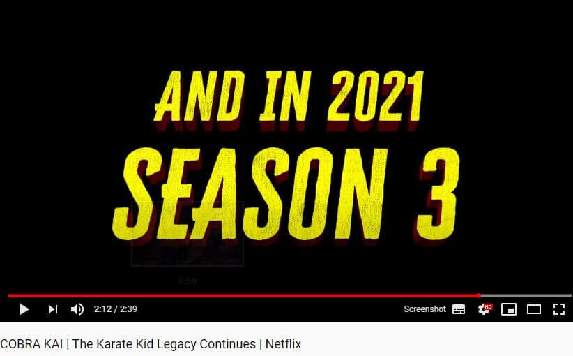2021 release date cobra kai