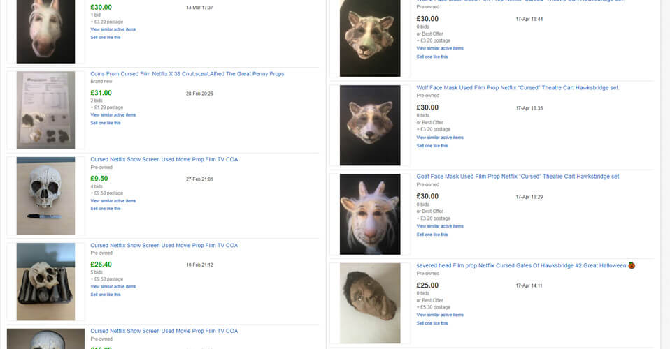 ebay listings for cursed props