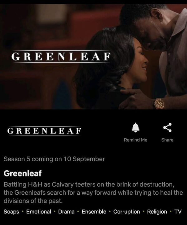 greenleaf season 5 netflix us release