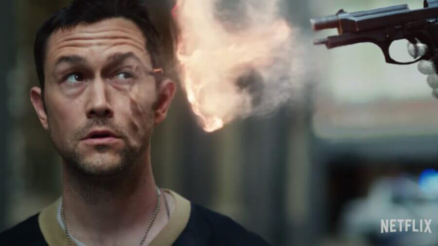 joseph gordon levitt shot in face