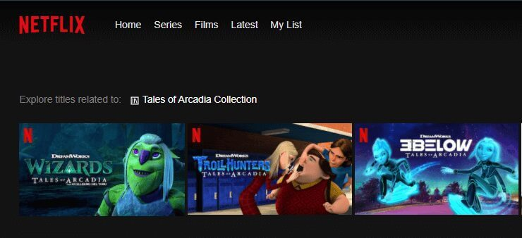 tales of arcadia netflix search