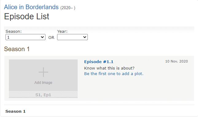 alice in borderland saison 1 netflix novembre 2020 date de sortie