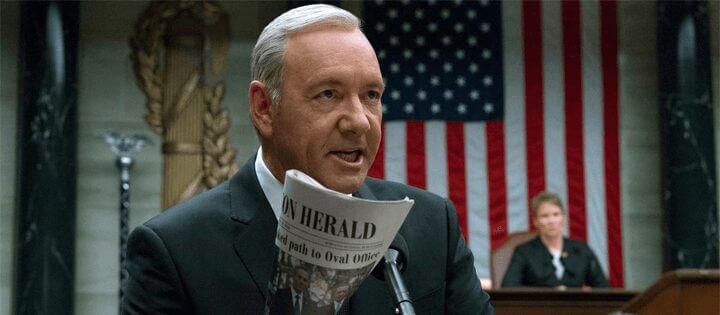 best netflix tv villains president frank underwood house of cards