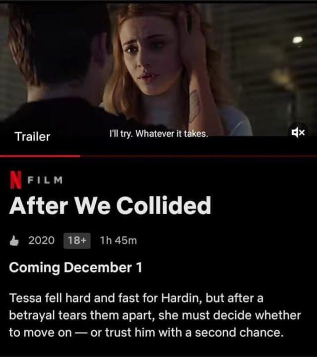 netflix december 1 after we collided