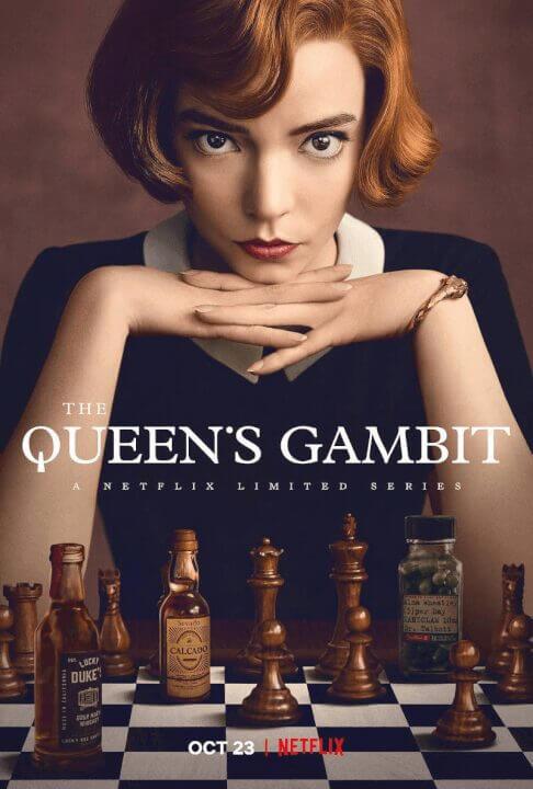netflix limited series the queens gambit coming in october 2020 poster