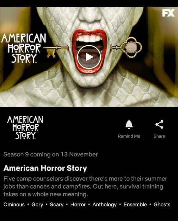 american horror story season 9 netflix november 2020