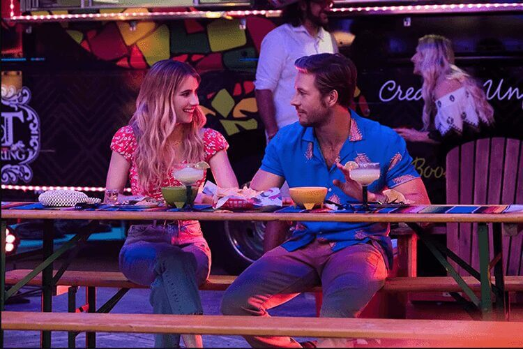 netflix holiday rom com holidate coming to netflix in october 2020 poster emma roberts luke bracey