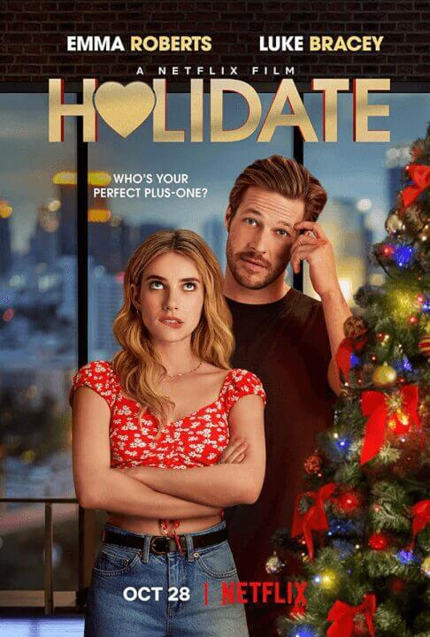 netflix holiday rom com holidate coming to netflix in october 2020 poster