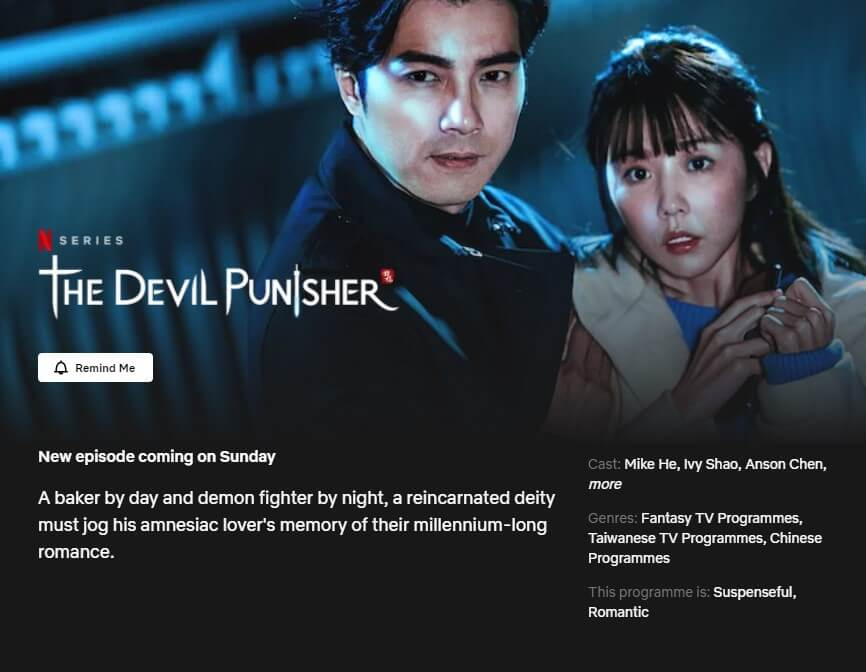 netflix page for the devil punisher