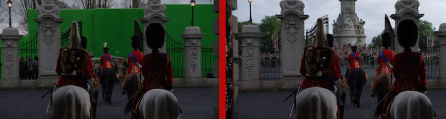 before and after the crown season 4 out of buckingham palace gates