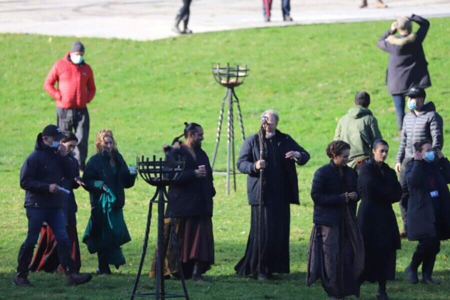 filming for the witcher season 2 in fountains abbey