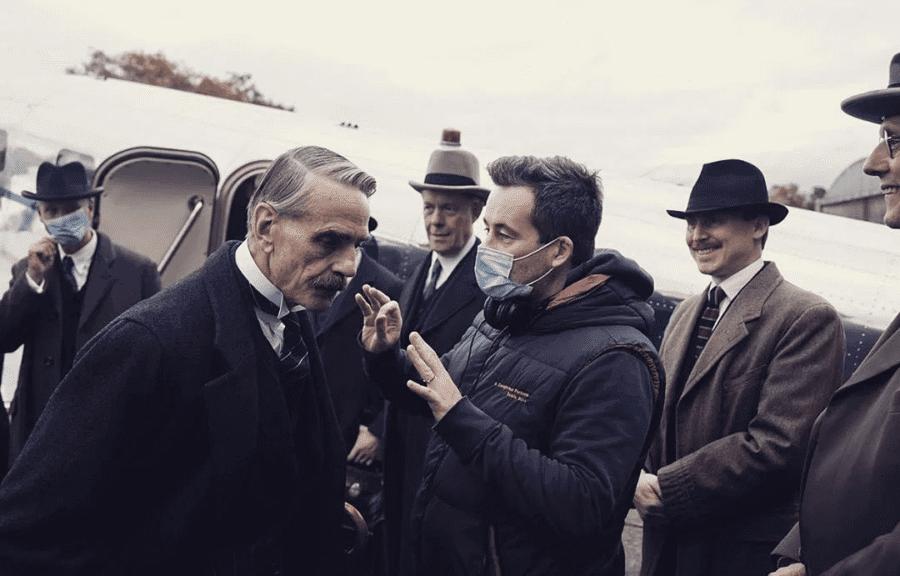 munich jeremy irons netflix movie neville chamberlain on set
