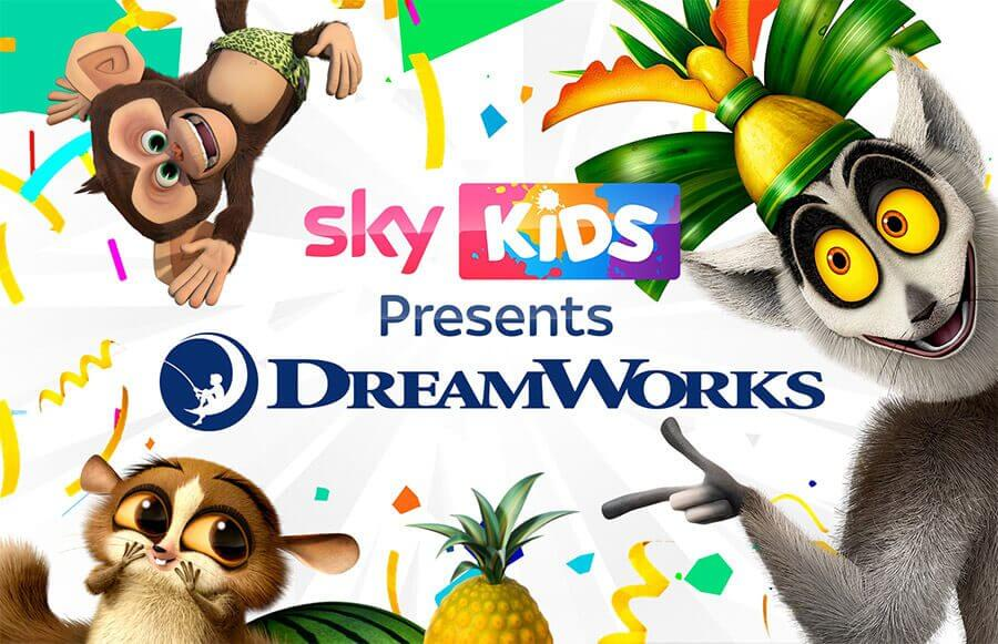 Sky Kids Dreamworks Output Deal Promotion Royaume-Uni
