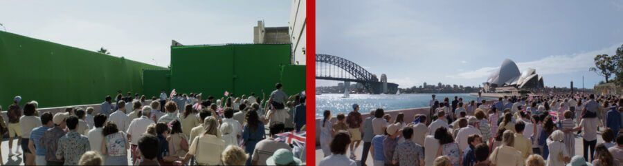the crown sydney before and after vfx shot