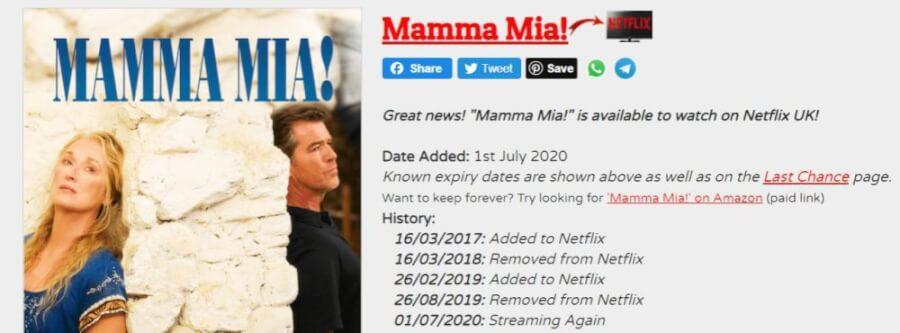 mamma mia here we go again leaving netflix uk in december 2020 new on netflix