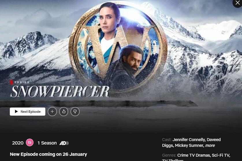 new episode notice snowpiercer netflix season 2