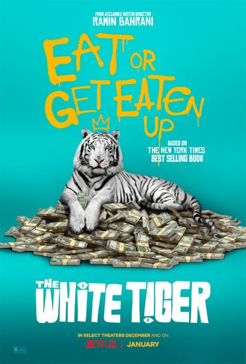 the white tiger netflix poster