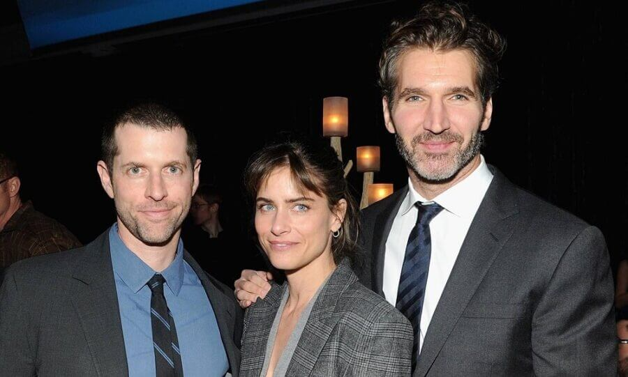 DB Weiss Amanda Peet David Benioff Tatler 20mar14 getty b 1