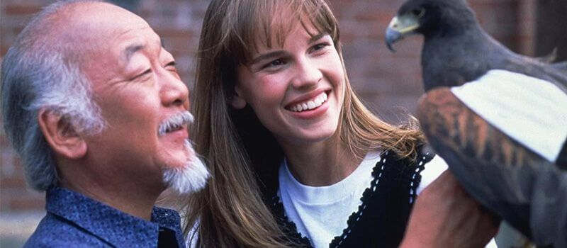 hilary swank in the next karate kid