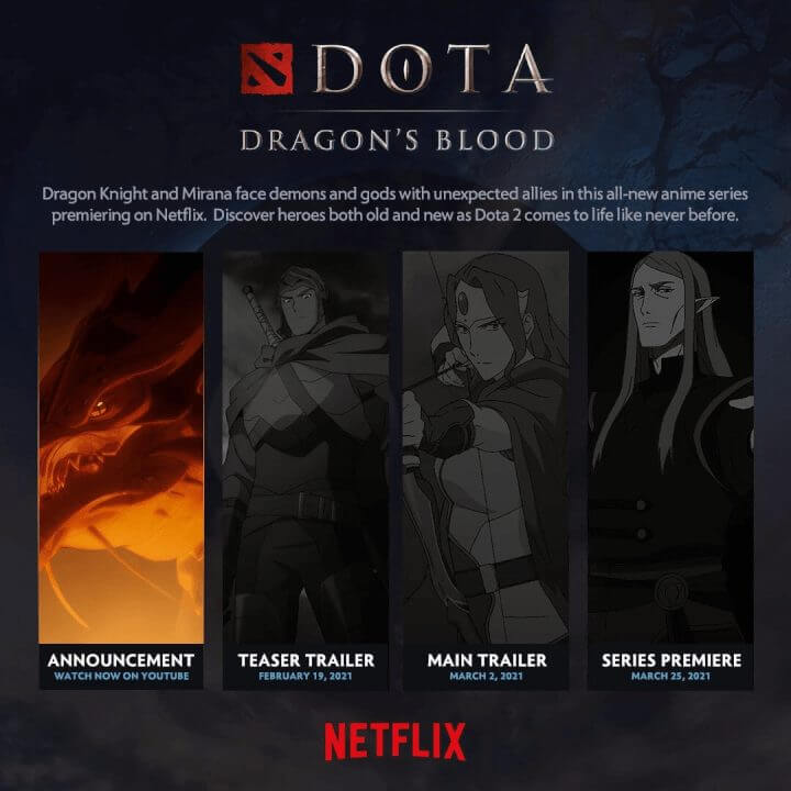 fantasy anime series dota dragons blood is coming to netflix in march 2021 date announcements