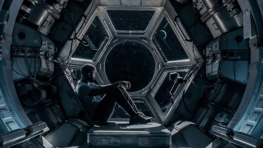 sci fi thriller STOWAWAY is coming to netflix in april 2021 shamier anderson
