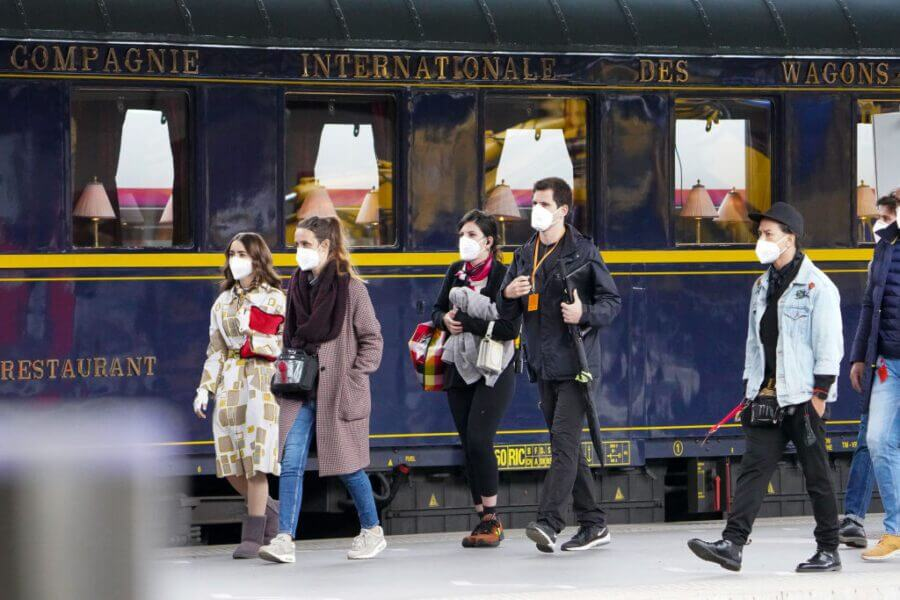 lily collins emily in paris season 2 train shot