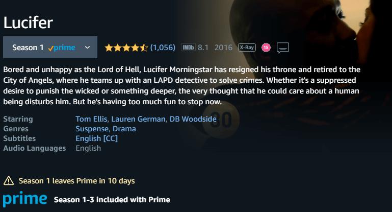 fecha de eliminación en las primeras temporadas de Lucifer