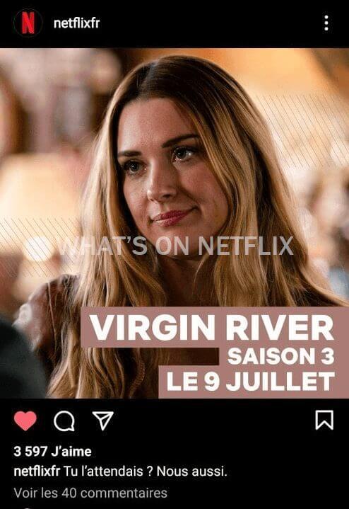 virgin river season 3 instagram post netflix france