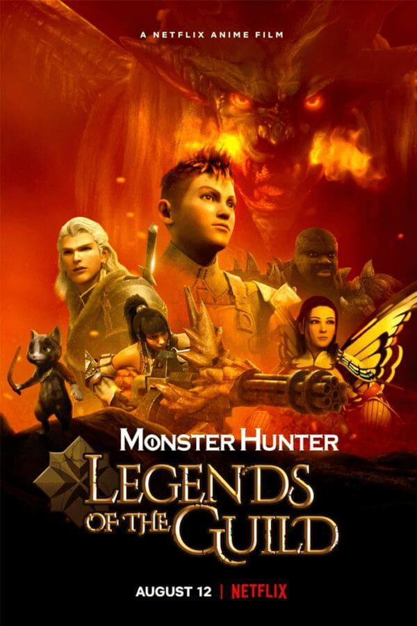 anime movie monster hunter legends of the guild is coming to netflix in august 2021 poster