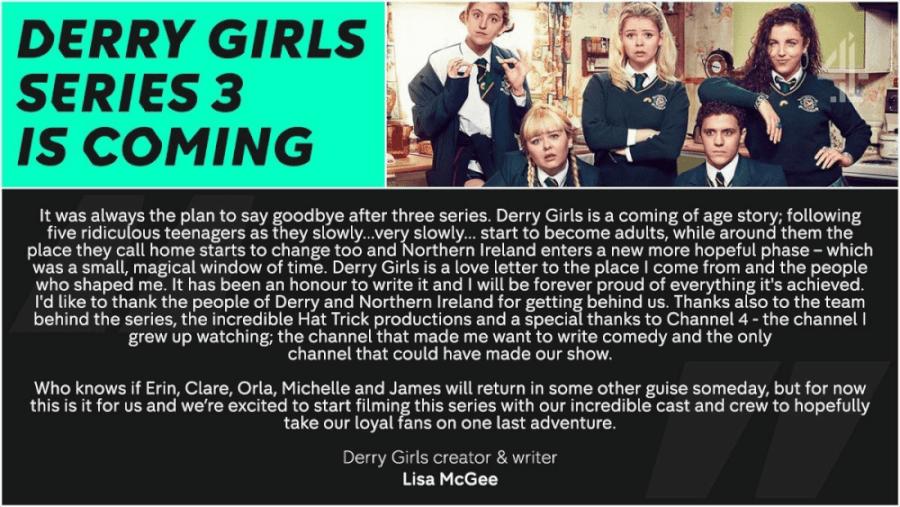 Derry Girls Lisa Mcgee Statement