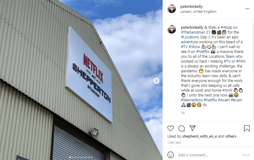 peter kelly wraps production instagram post