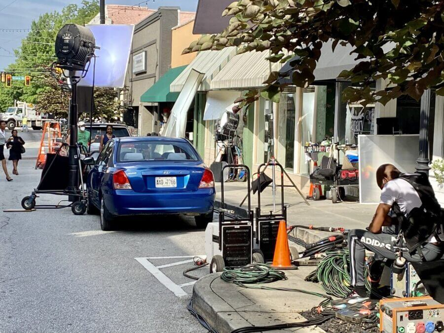 Sweet Magnolias filming s2
